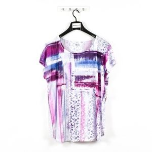 Style & Co Plus Size Multicolor Mixed-print Top